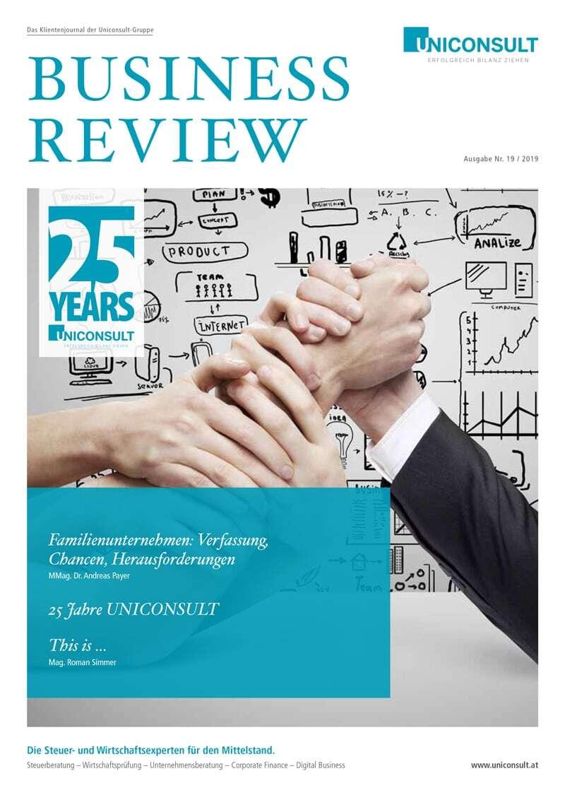 Cover-Abbildung der Uniconsult Business Review